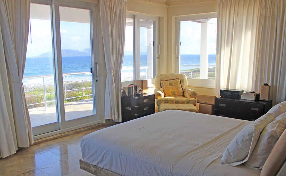 master bedroom view of sea