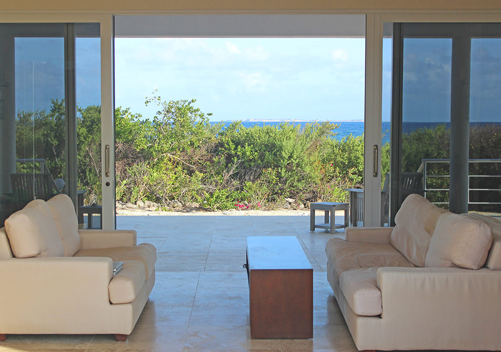 breezeway with caribbean sea views