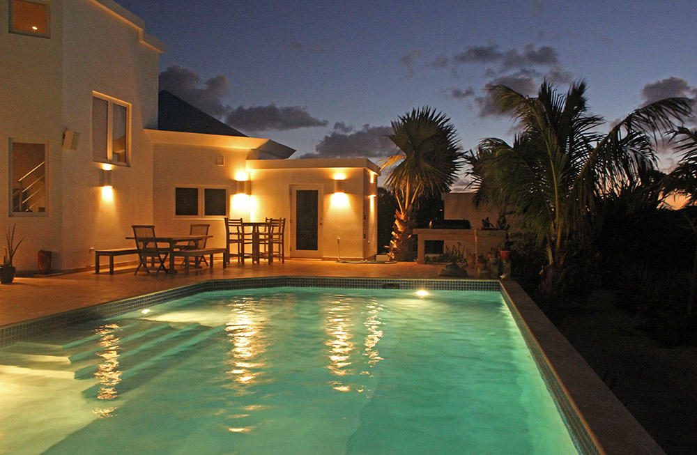 anguilla beaches villa pool in the evening