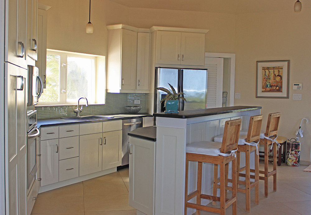 spacious kitchen inside anguilla beaches villa