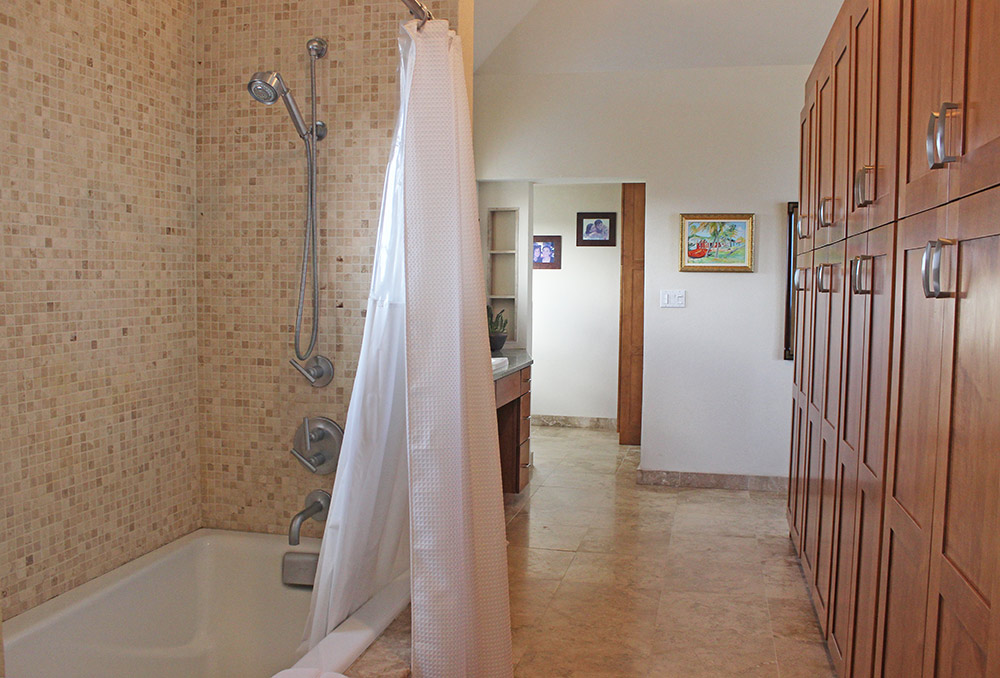 master bathroom on villa top level