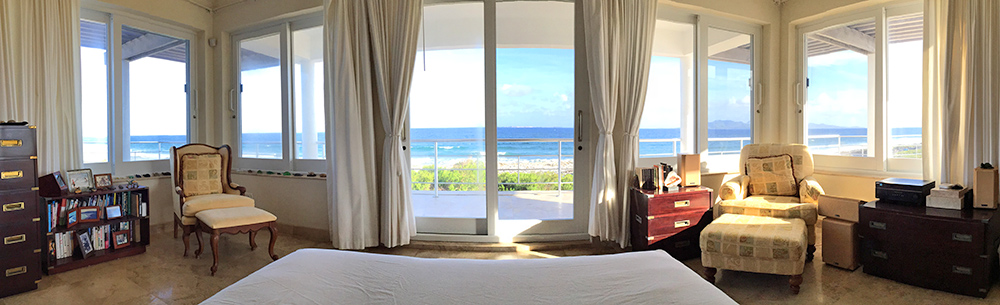 panorama from master bedroom in anguilla