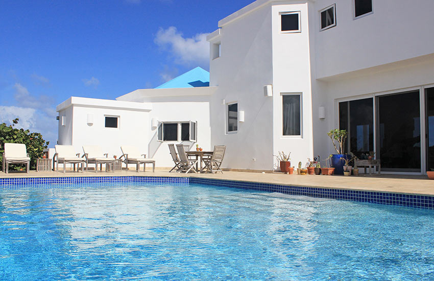anguilla villa pool in back