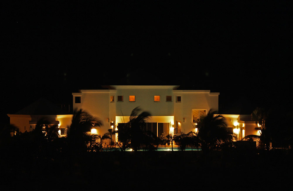 villa by evening